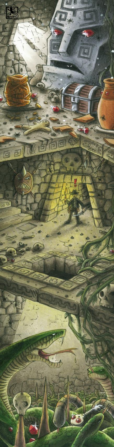 Die fallenbespickte Tempelruine