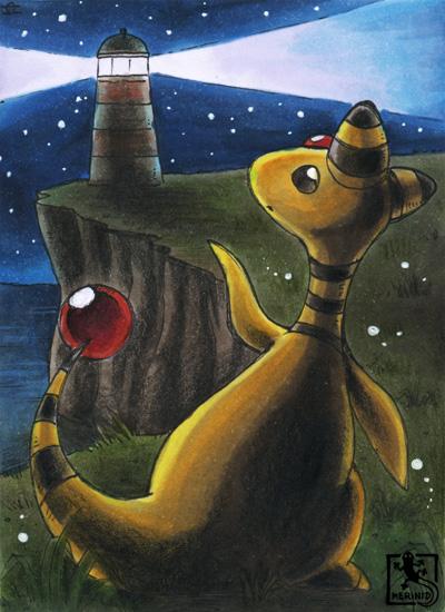 Ampharos und der Leuchtturm