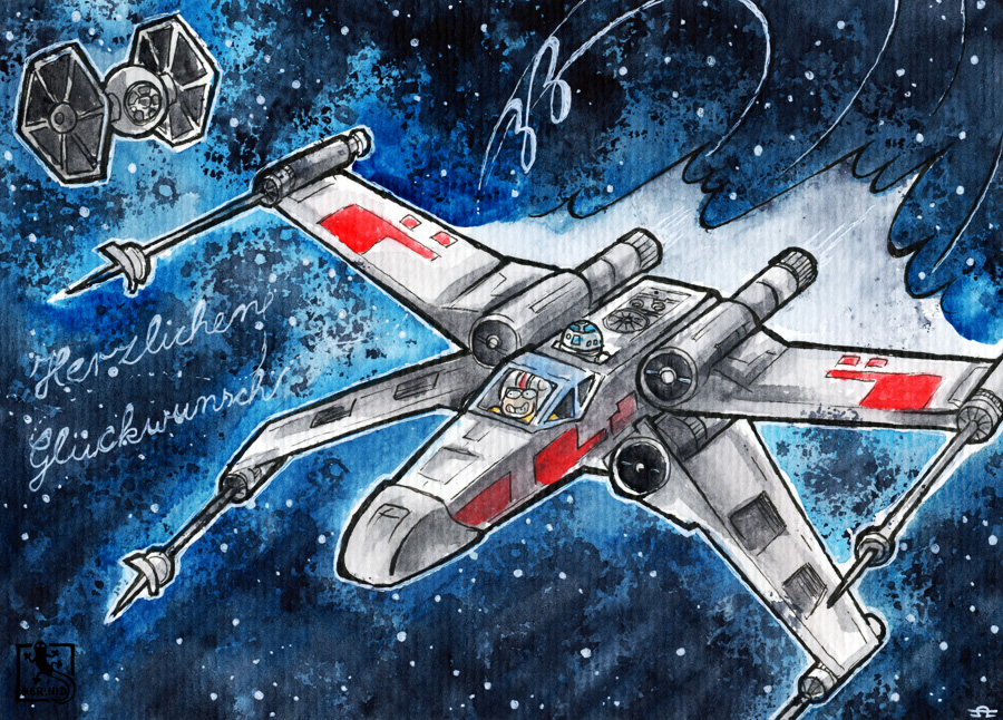 X-Wing - Birthday Card