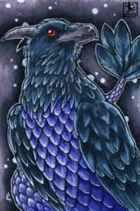 Coraxas, der Drachenrabe (OC)