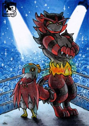 Pokémon-Team Resladero und Fuegro