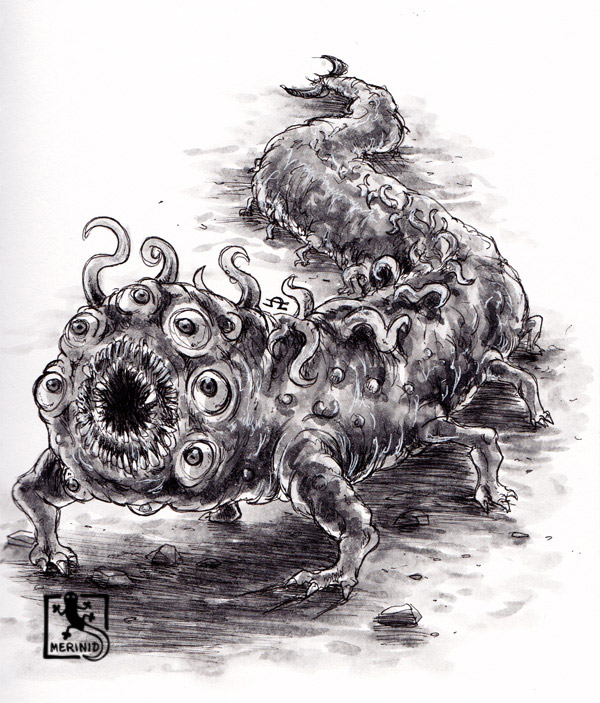 Cthulhu - Lovecraft - Tentakelmonster mit Copic-Markern - Version 5