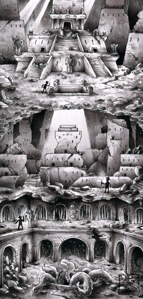 Henry Walton Ford - Mysteriöse Ruinenlandschaft