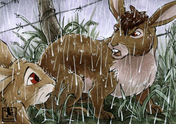 Zurechtweisung - Bigwig und Fiver - Watership Down - Kaninchen