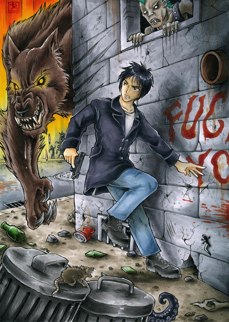 Vampire - Werewolf - OC Kenji Sako