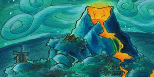 Eine Insel mit Vulkan - Monkey Island