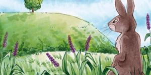 Ein Kaninchen am Fuße eines Hügels - Watership Down