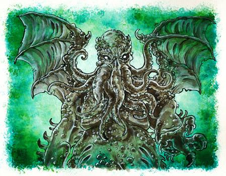 Inktober - Cthulhu - Lovecraft