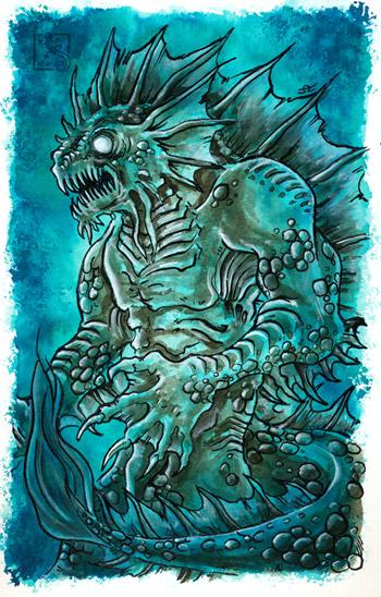 Inktober - Dagon - Lovecraft
