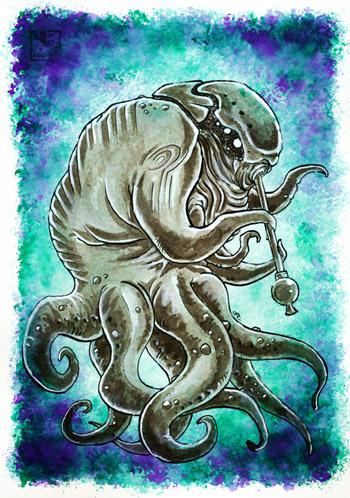 Inktober - Diener der Äußeren Götter - Servitor of the Outer Gods