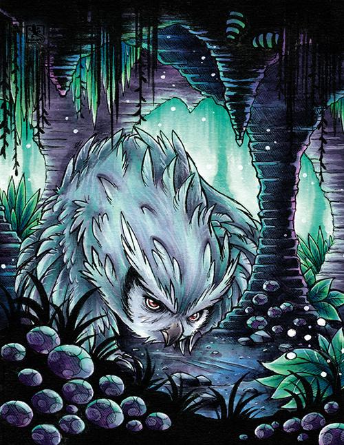 Fantasie-Kreatur Eulenbär